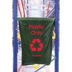 Plastic Waste Green Racksack Pk 10