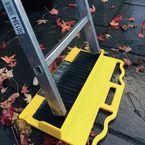 Ladder slip resistant anchor points