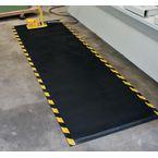 Anti-Fatigue Mat, Solid Top, Nitrile  Rubber, Cushioned Core, Black/Yellow 85Cm X 150Cm